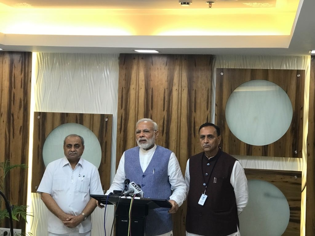 Prime Minister Narendra Modi reviews flood situation in Gujarat, assures all possible aid