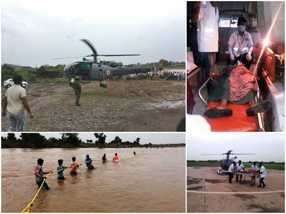 Swift action by IAF, NDRF, State police gives lease of life to thousands affected in Gujarat flood