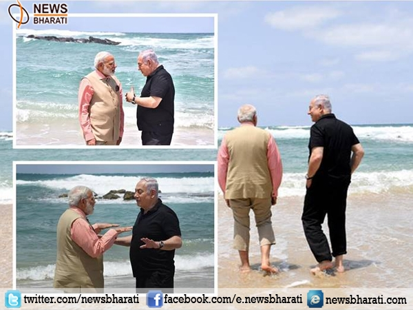 India-Israel Friendship gets stronger and stronger; PM Modi, Netanyahu surf on the Olga beach