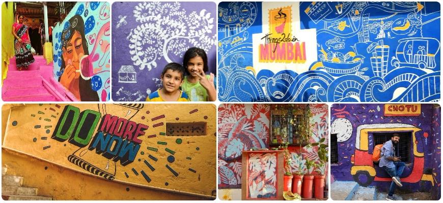 Mumbai's Asalpha slum gets a colourful makeover
