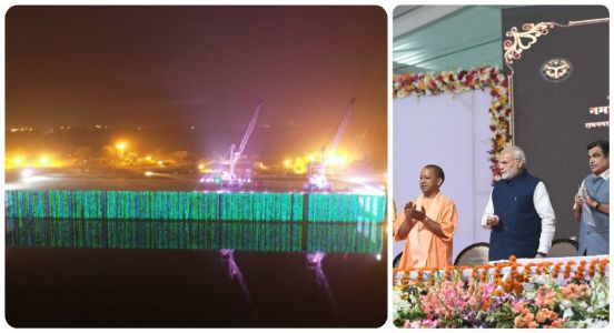 Connecting chords via waterways: PM Modi dedicates Multimodal Terminal to the nation; inaugurates major road projects