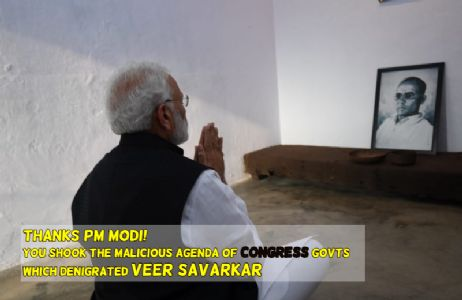 With this gesture, you dared the outlook of Congress govts which denigrated Veer Savarkar; Thanks PM Modi!