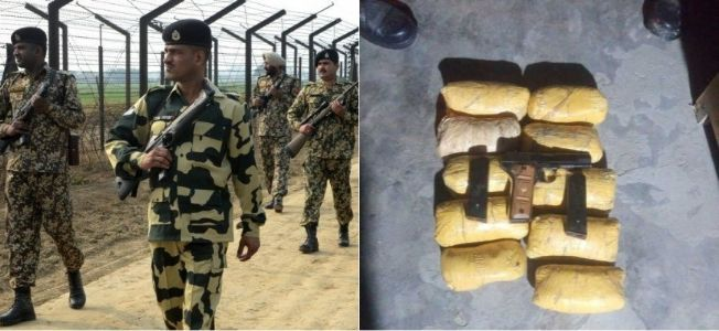 BSF eliminates Pakistani smuggler in Punjab's Ferozepur sector; recovers 10 Kg of Heroin