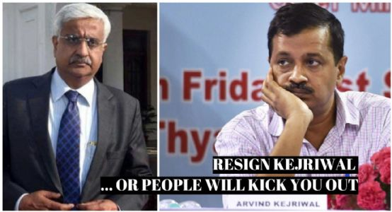 Physical attack on #DelhiChiefSecretary : Resign Kejriwal or people will kick you out