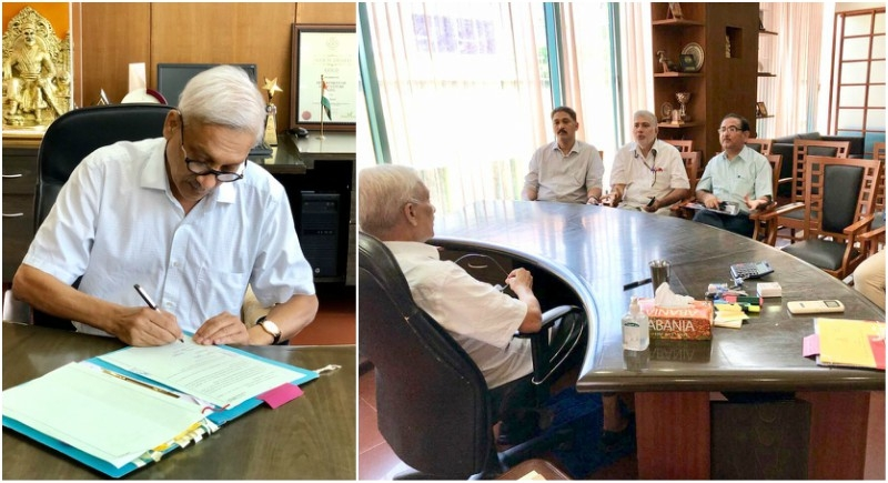 people s cm manohar parrikar resumes working for people defeating