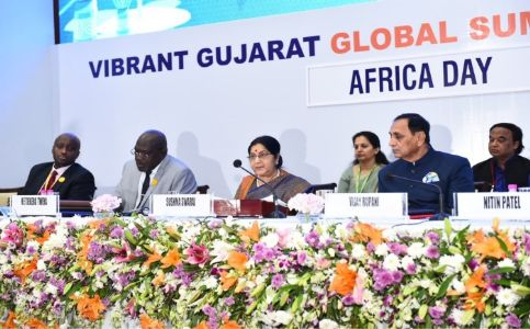 "Strong India-Africa relations will go a long way in redefining the contours of the international order on more egalitarian lines: Sushma Swaraj at ""Africa Day celebration"""