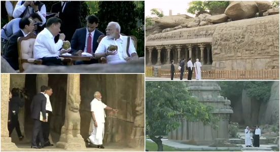 Informal attire, chats and poses: Modi and Xi Jinping take a stroll through ancient cave temples of Mamallapuram