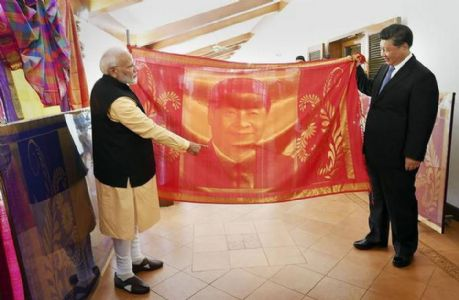 A souvenir with love from India: Modi gifted a handwoven silk portrait to Xi Jinping on second informal summit