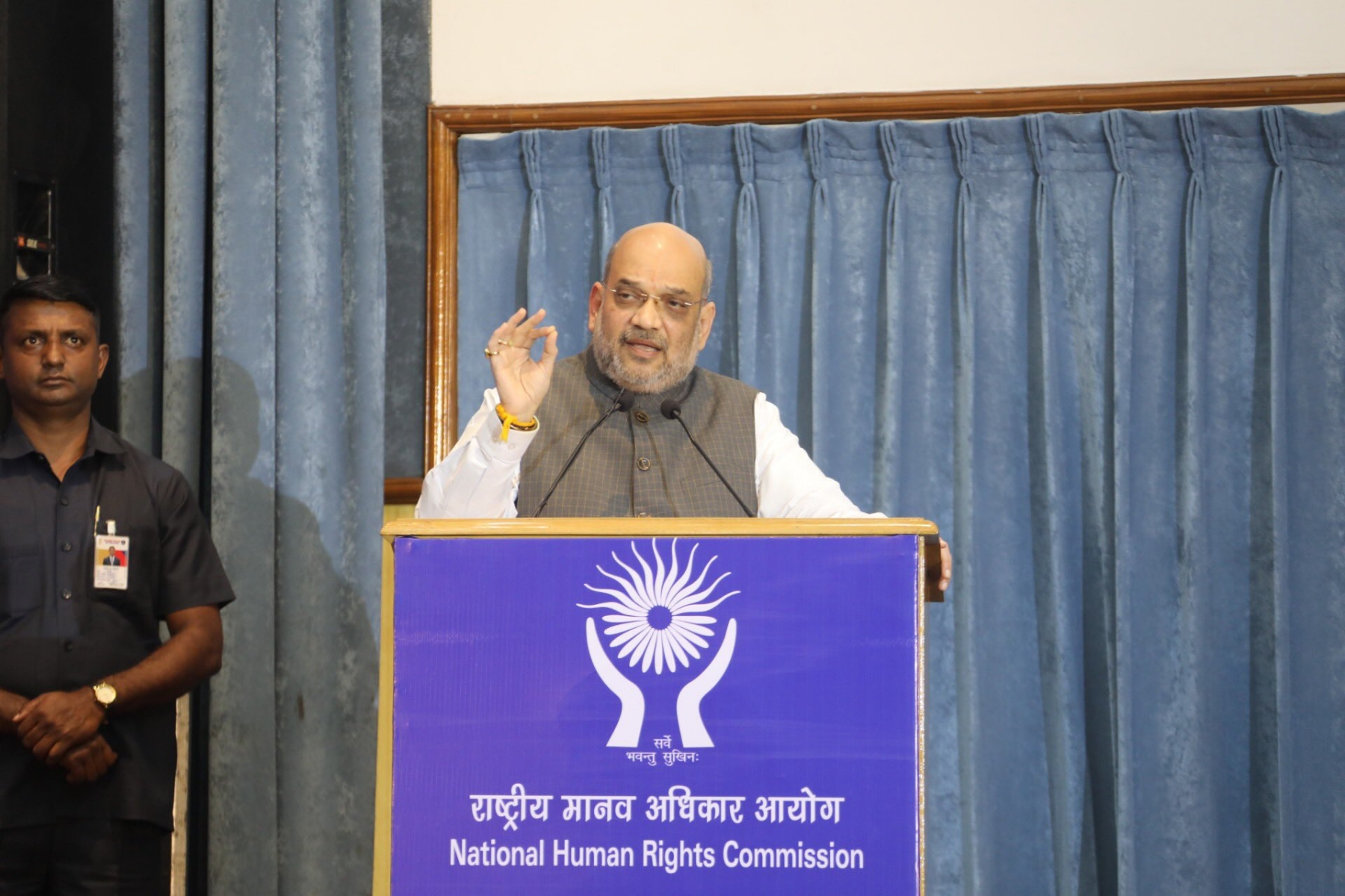 Image result for Union Home Minister Amit Shah has said that the terrorism and Maoism are the biggest threats to the human rights.