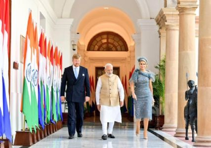 Building upon the strategic trust, Dutch king and queen touch down in India for five day state visit