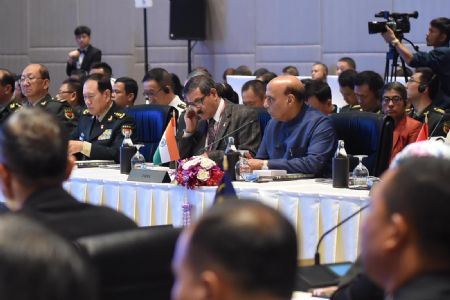 Calling on int'l community, Rajnath Singh pitches on dire need to eliminate terrorist safe haven
