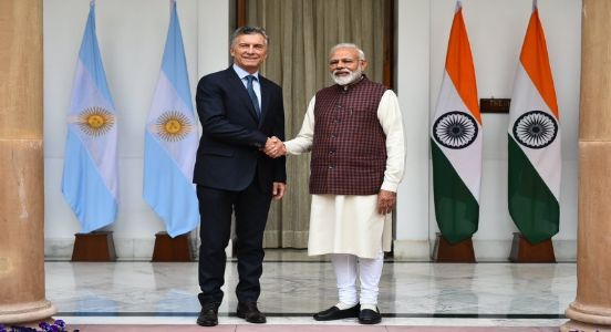 Celebrating glorious 70 years with a Latin American partner, PM Modi holds delegation level talks with Argentina's President Mauricio Marci