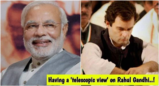 Doing it Rahul's style..! BJP's telescopic view to expose Rahul Gandhi's upscaling income through press conferences
