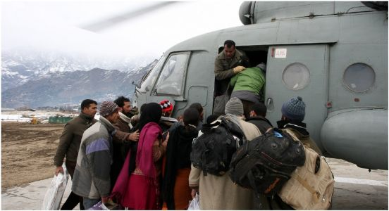 Help is in the air..! IAF airlifts 187 stranded passengers to and fro Kargil in J&K