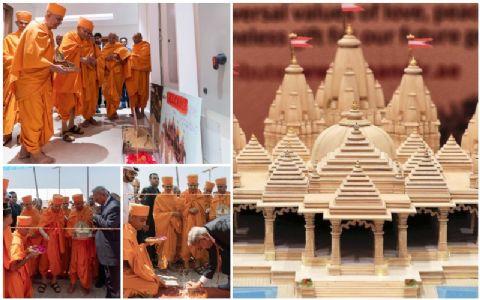 Marking Indian spiritual presence beyond borders, UAE lays foundation stone of first Hindu Temple