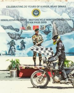 Braving all odds in unforgiving terrain, Himalayan Heights Motorcycle expedition flagged in at Leh