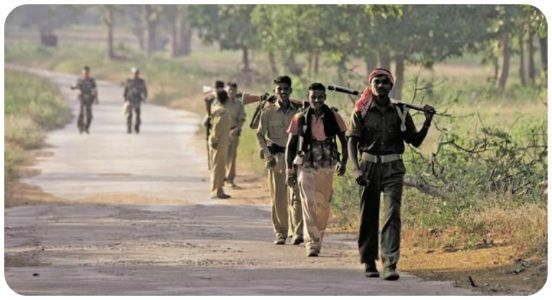 15 Maoists kneel down in Bijapur district of Chhattisgarh
