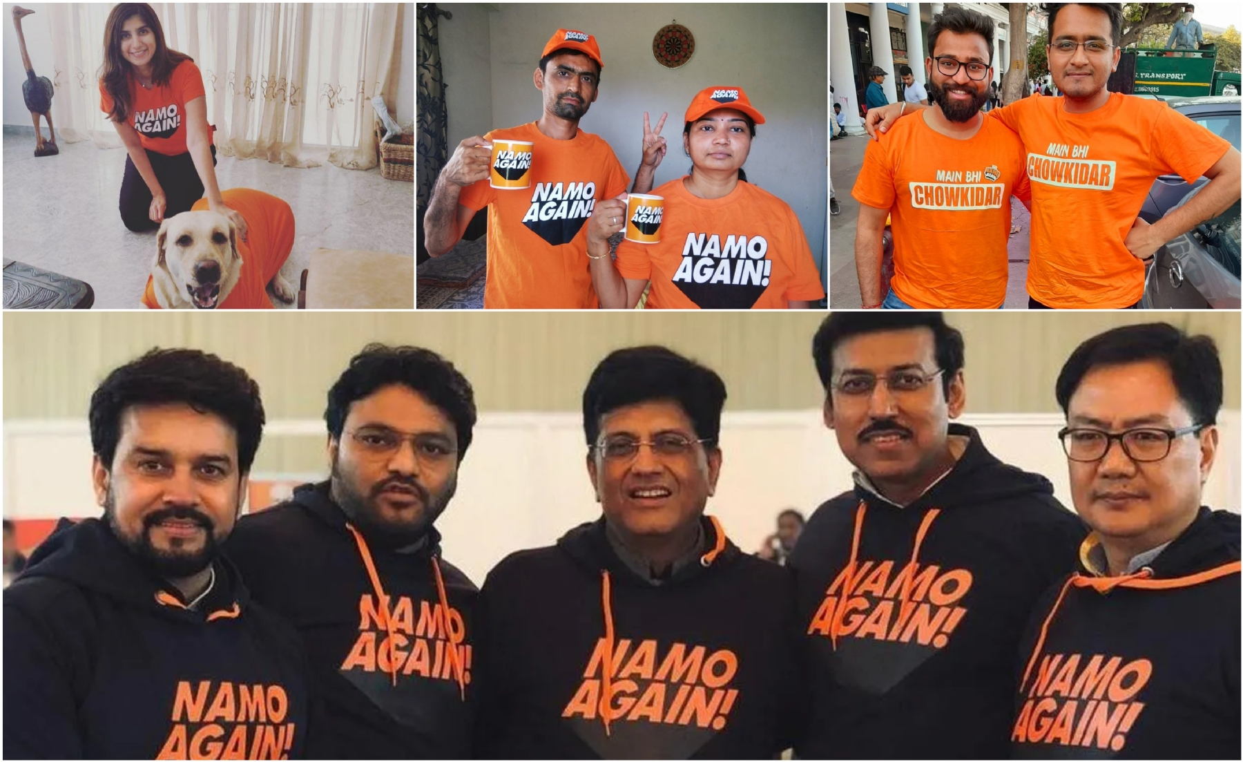 1e1f09f5 ... the NaMo merchandise in India is set to promote dynamism, creativity  and innovation in the fashion industry. T-shirts branding 'NaMo Again', ...