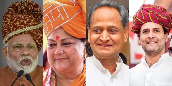 Early trends: BJP takes great leap towards victory with lead in 24 out of 25 constituencies in Rajasthan