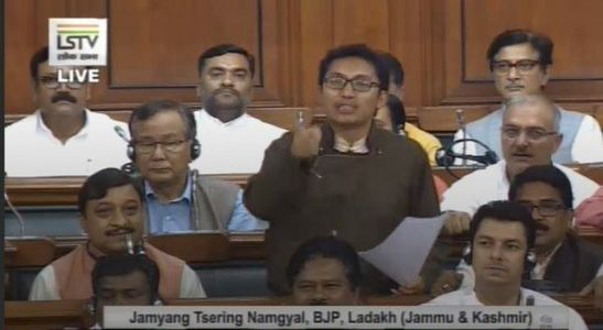 Ladakh's voice echoes for the first time!  MP Jamyang Tsering Namgyal hit hard at NCP, PDP hailing revoke of Article 370
