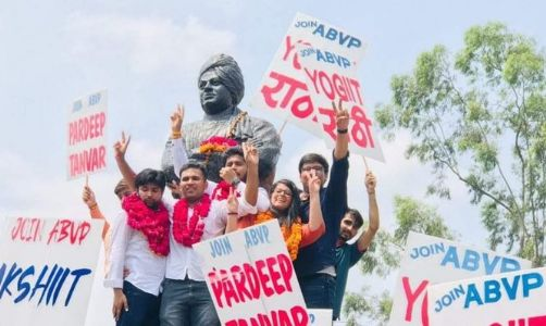 It's the victory of nationhood! ABVP once again hoists the Kesariya flag in DUSU elections
