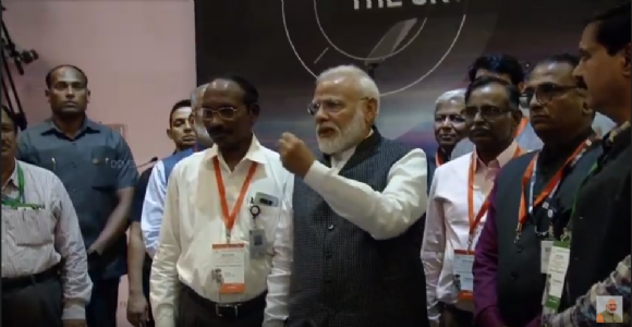 India is proud of you, be courageous! Says PM Modi encouraging scientists as lander Vikram loses communication