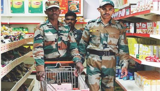 Military Canteens to ban Chinese goods, including liquor