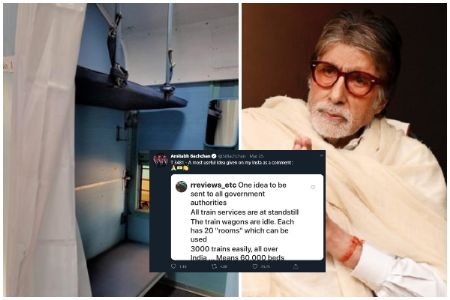 Indian Railways convert train coaches into isolation wards; Did Big B's idea strong arm Centre to pitch in?