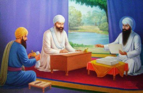 Bhai Gurdasji and Guru Nanak Devji