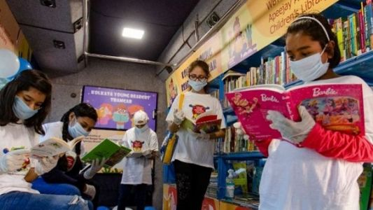 In a first, Young Readers' Boat Library launched in the city of joy