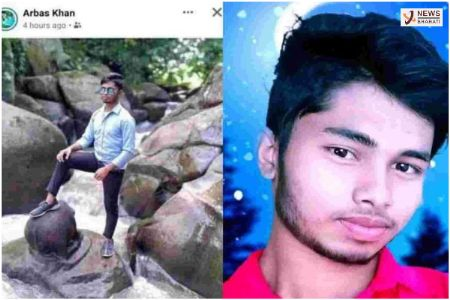 Muslim youth, Arbas Khan arrested after uploading a photo showing him placing a foot on a Ganesh idol