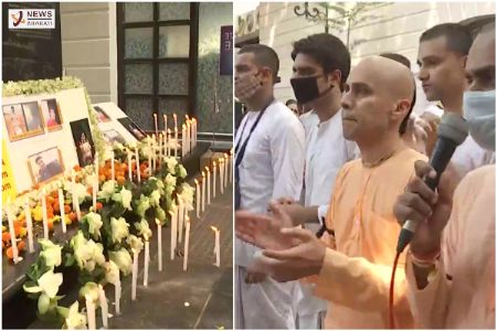 ISKCON devotees continue their protest in Kolkata Bangladesh incident on Oct 16