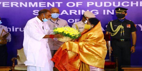 N Rangasamy sworn in as chief minister of Puducherry
