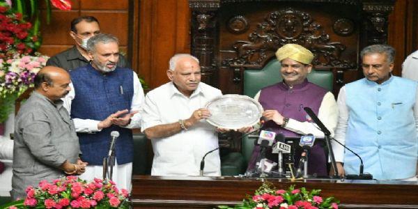 Former CM BS Yediyurappa bags best legislator award in Karnataka assembly