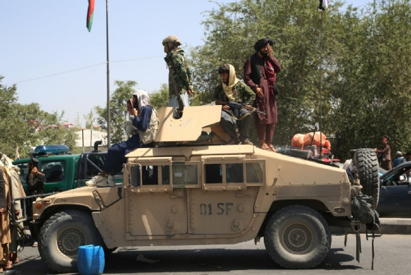 Taliban militants trying